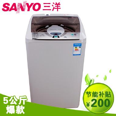 sanyo/三洋 xqb50-m806zn 5公斤全自动波轮洗衣机