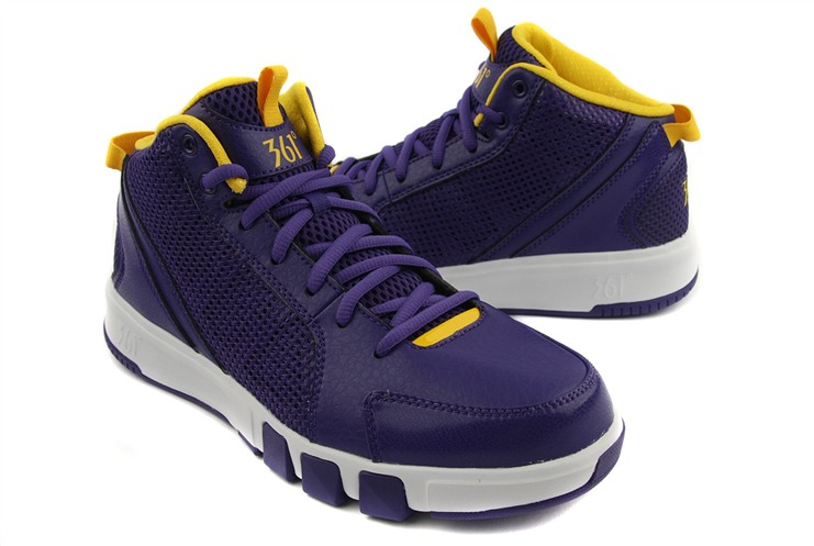 男子篮球鞋 7211111深紫/黄