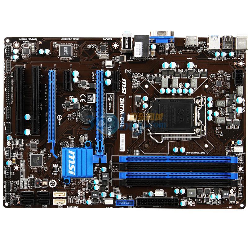 ZH77A G41主板 Intel H77 LGA 1155图片