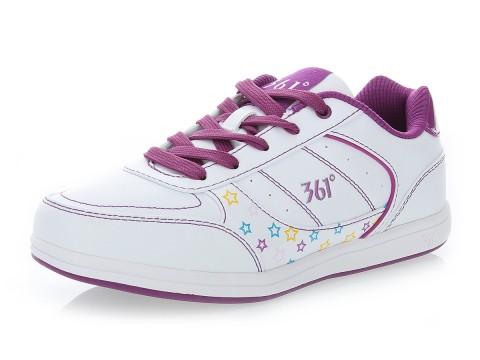361° 白/紫 女 休闲鞋