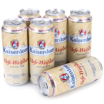Kaiserdom凯撒白啤500ml*6听/箱(德国)京东商城78元两箱,39元/箱,6.5元/听
